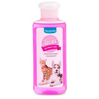 Шампунь для собак и кошек Природа Люкс гигиенический с провитамином B 240 мл