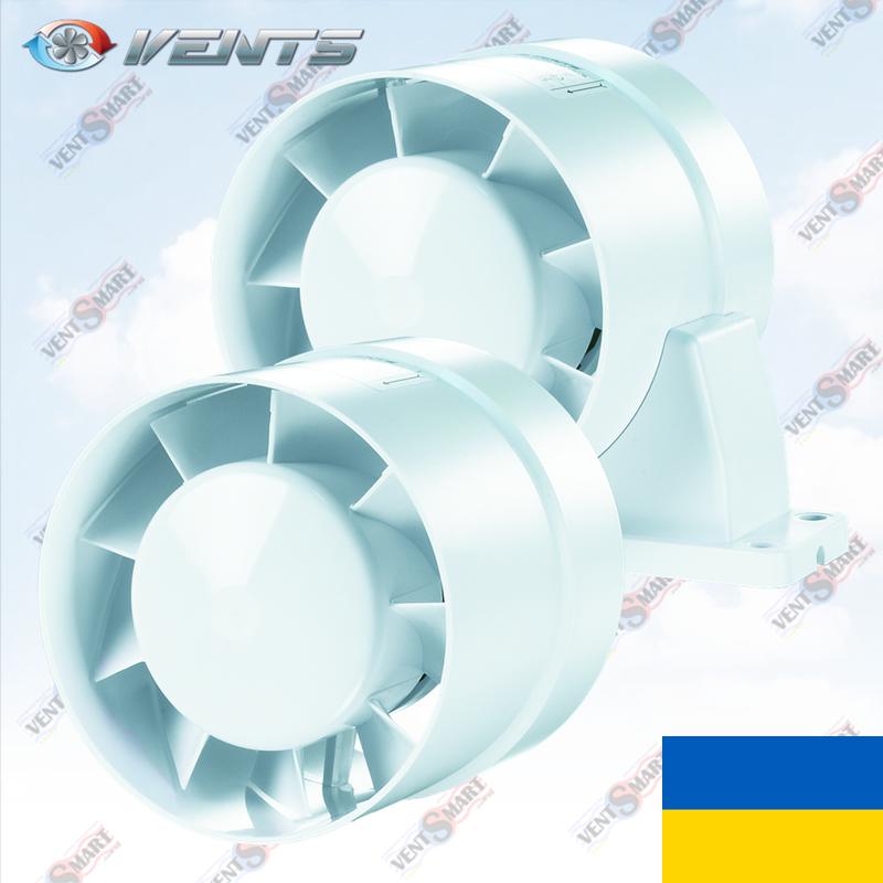 Канальный осевой вентилятор ВЕНТС ВКО/ВКОк 100,125,150