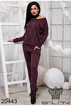 Спортивный костюм женский бордового цвета, фото 3