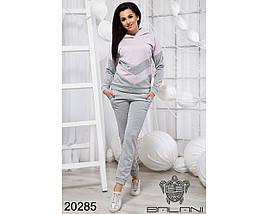 Спортивный костюм женский серый с розовым, фото 2