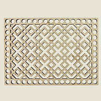 Прямоугольное донышко для вязанных корзин Shasheltoys (100323.125) 125х175 мм