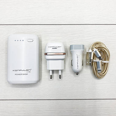 PowerBank Konfulon Y1301 4 в 1 (White), фото 2
