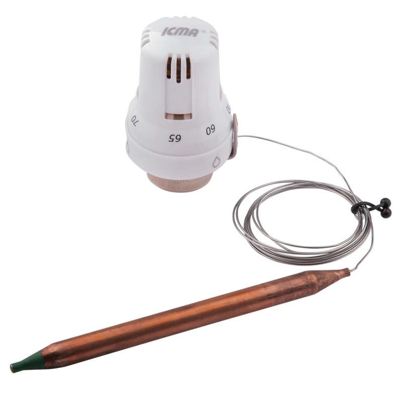 🇮🇹 Термоголовка с выносным датчиком 30х1,5 (60-90°С) ICMA №997, 82997AC20