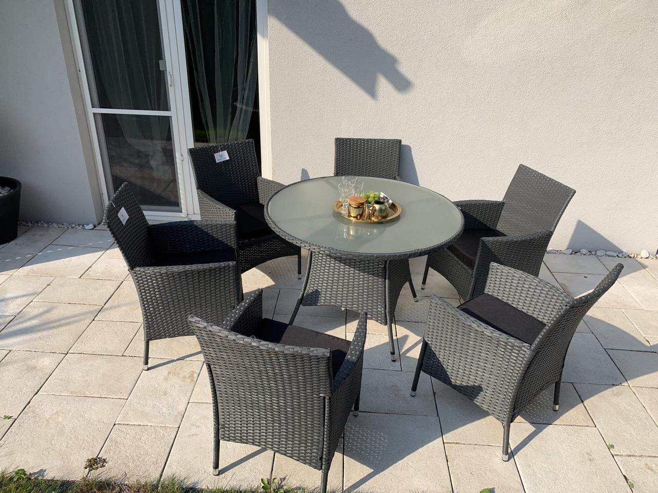 Набор садовой мебели из ротанга стол и 6 кресел!