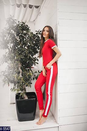 Красный спортивный костюм, фото 2