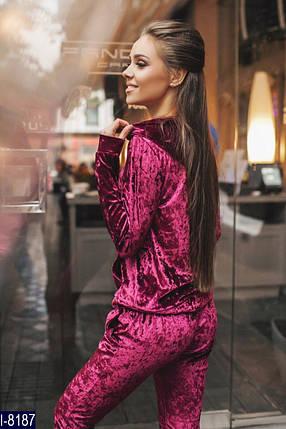 Женский велюровый спортивный костюм «Afine», фото 2
