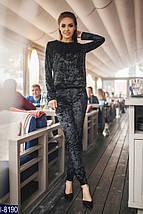 Черный велюровый спортивный костюм, фото 2