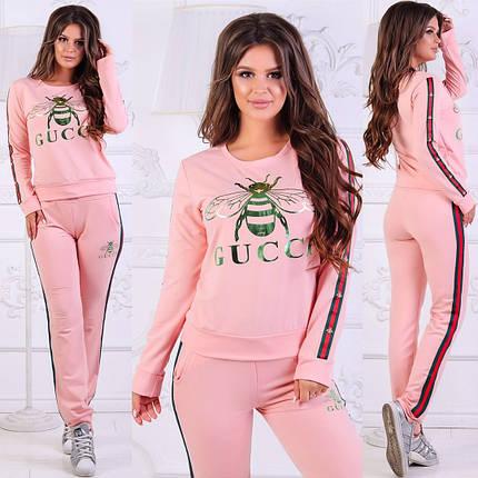 Розовый костюм с логотипом бренда, фото 2