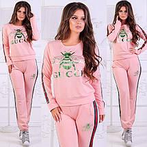 Розовый костюм с логотипом бренда, фото 3