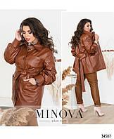 Куртка №722Б-рыжий Размеры 48-50, 52-54, 56-58