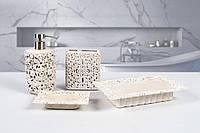 Комплект в ванную Irya - Calisto krem кремовый (4 предмета)