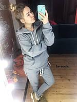 Теплый женский спортивный костюм на флисе