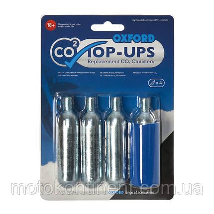 OX161 баллончики для подкачки мотошин запасные OXFORD CO2 TOP UPS в ДОРОГУ, фото 2