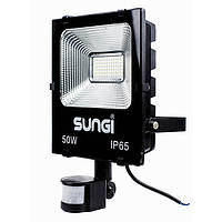 LED прожектор SUNGI 50W с датчиком