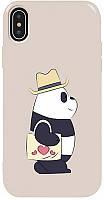 Чехол-накладка TOTO Pure TPU 2mm Print Case Apple iPhone X/XS #69 Pandabag Stone #I/S