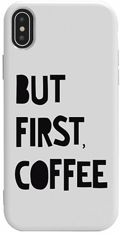 Чехол-накладка TOTO Pure TPU 2mm Print Case Apple iPhone X/XS #41 First Coffee White #I/S