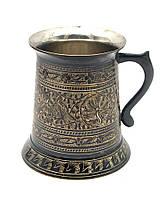 Кружка бронзовая черная (12х11х11 см)(beer mug heavy)