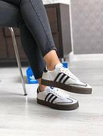 Женские кроссовки Adidas Samba из натуральной кожи