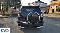 Fiat Doblo (10-15) защитная дуга защита заднего бампера на для Фиат Добло Fiat Doblo (10-15) углы d60х1,6мм