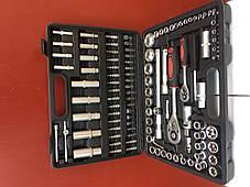 Набор инструментов FERODO 108 едениц головки ключи биты трещотка, фото 3