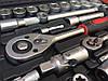 Набор инструментов FERODO 108 едениц головки ключи биты трещотка, фото 4