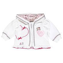 Детский кардиган для девочки BRUMS Италия 141BCFC002 белый