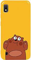 Чехол-накладка TOTO Pure TPU 2mm Print Case Samsung Galaxy A10 #56 Bear Ups Yellow #I/S