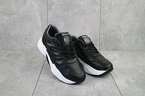 Кроссовки женские Road-style C-023-01 черные-белые (натуральная кожа, весна/осень)