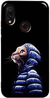 Чехол-накладка TOTO Pure TPU 2mm Print Case Xiaomi Redmi 7 #76 Catcoat Black #I/S