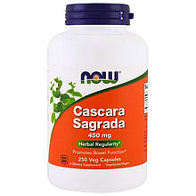 "Крушина NOW Foods ""Cascara Sagrada"" 450 мг (250 капсул)"