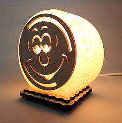 """Соляна лампа маленька кругла """"Смайлик"""""""