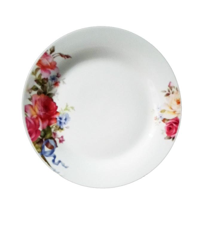 """Обеденная тарелка """"Розы"""" 20см (фарфор)"""
