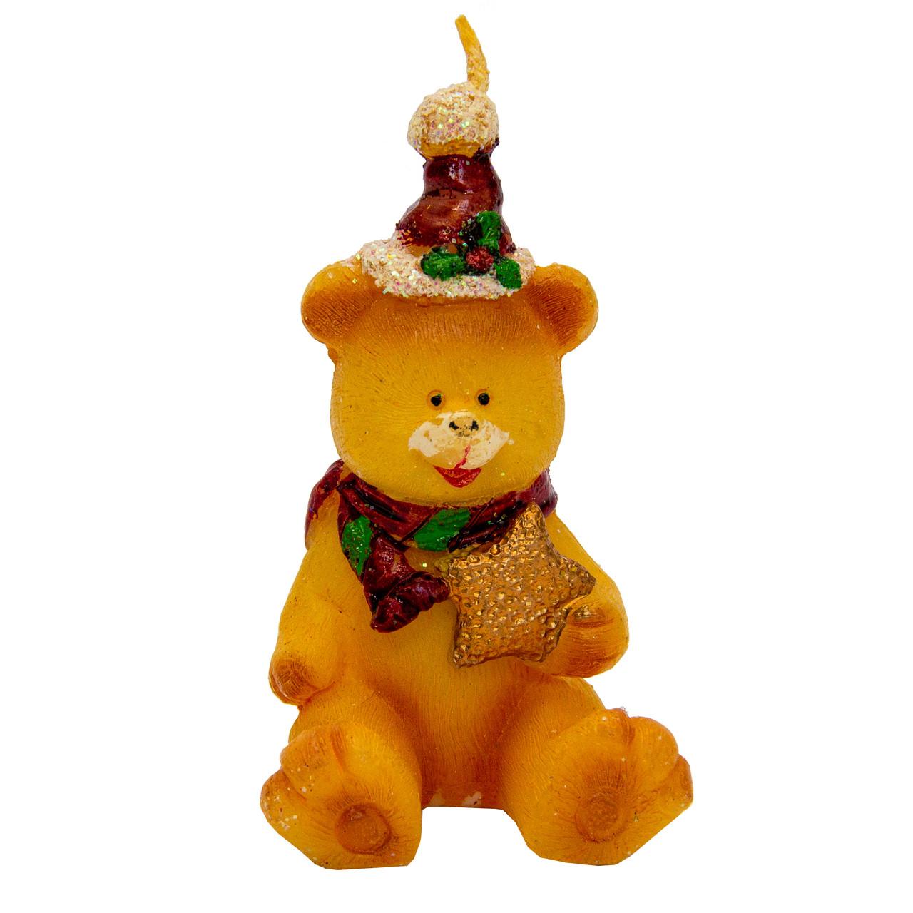 Свечка декоративная Медвежонок со звездой, 7, 7см (441082-2)