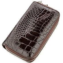 Клатч Мужской Crocodile Leather 18526 Из Натуральной Кожи Крокодила Коричневый, Коричневый