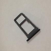 Сим-лоток Samsung A520 2017 1 SIM+SD Black