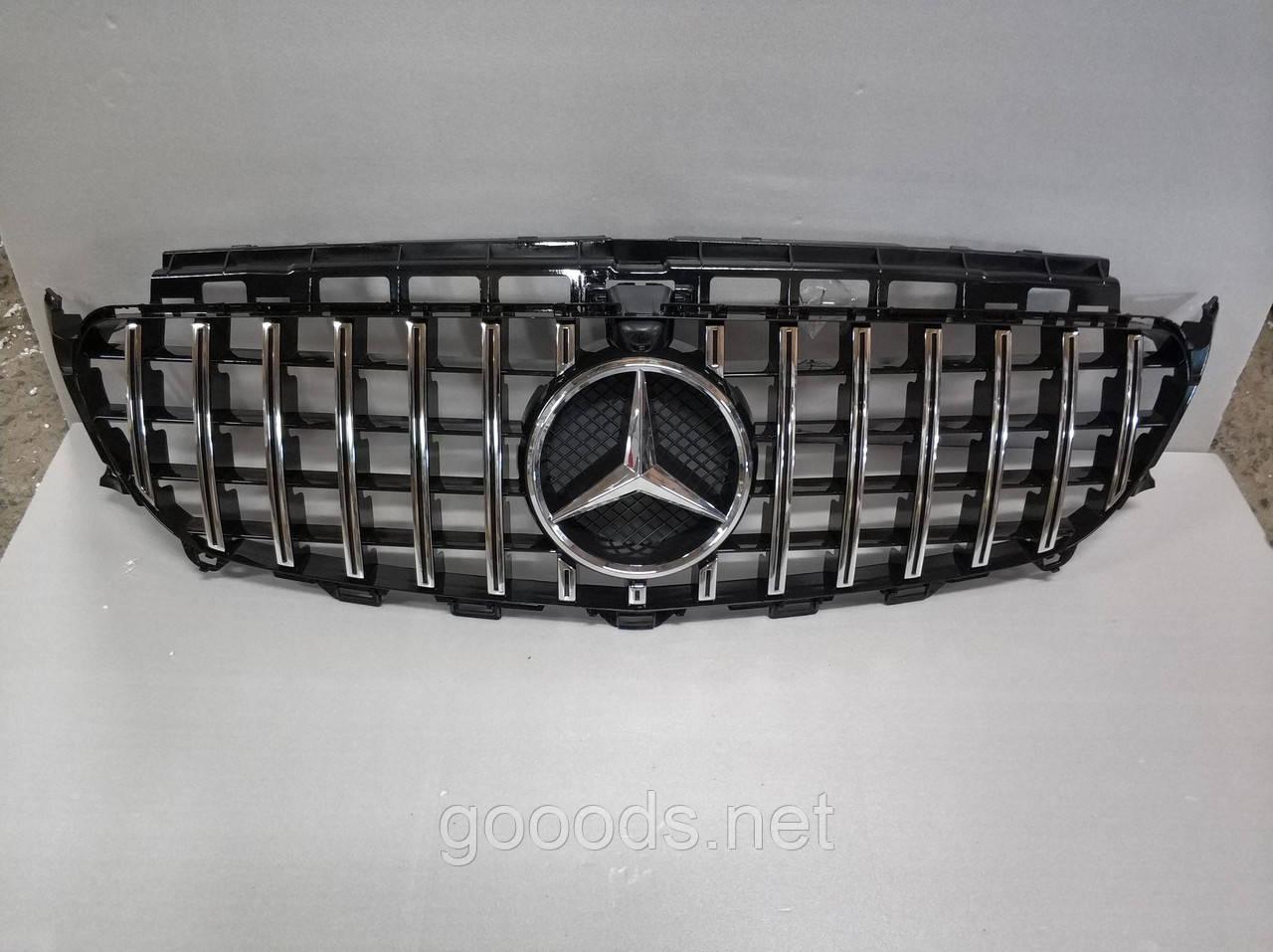 Решітка радіатора GT-style Mercedes E-class W213, Black/Chrome