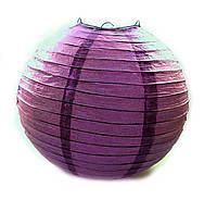 Фонарь фиолетовый бумажный  (d-30 см) ЗП-28803F