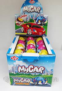 Яйцо шоколадное« Машинки» с игрушкой 24шт Турция