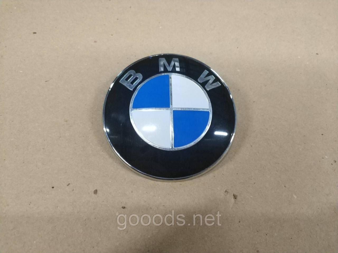 Эмблема передняя BMW d=82mm, 51148132375
