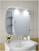 Шкаф зеркальный Garnitur.plus в ванную с LED подсветкой 14NS DP-V-200113, КОД: 141274
