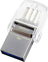 Флеш память USB Kingston USB Flash Kingston DataTraveler MicroDuo 3С 32Gb, Type-C USB 3.0 Silver F_44026