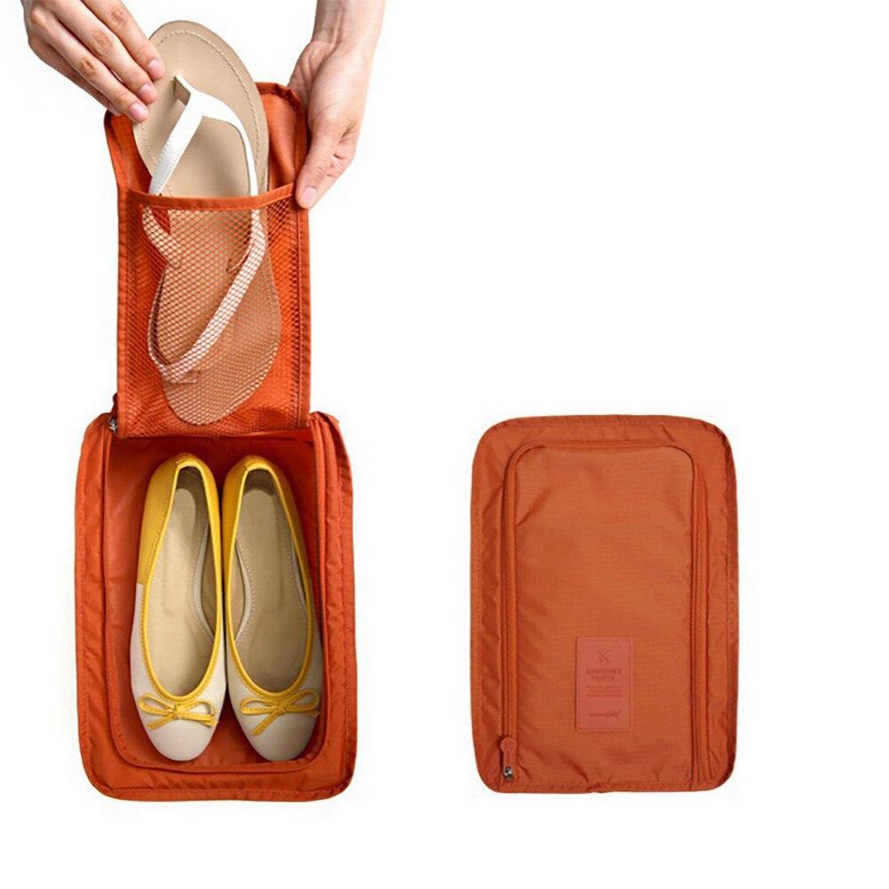 Сумка для обуви на 2 пары мягкая однотонная Genner оранжевая 01082/05 цвет оранжевый