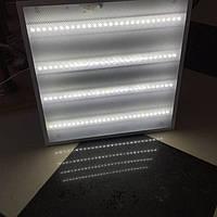 Светодиодный светильник LED 40Вт  (колотый лёд/призматик) 6000К 595х595, фото 1