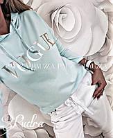 """Батник женский """"Vogue с капюшоном"""" (реплика), фото 1"""