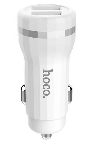 Автомобильное зарядное устройство Hoco Z27 Staunch 2xUSB 2.4A Белый, фото 2