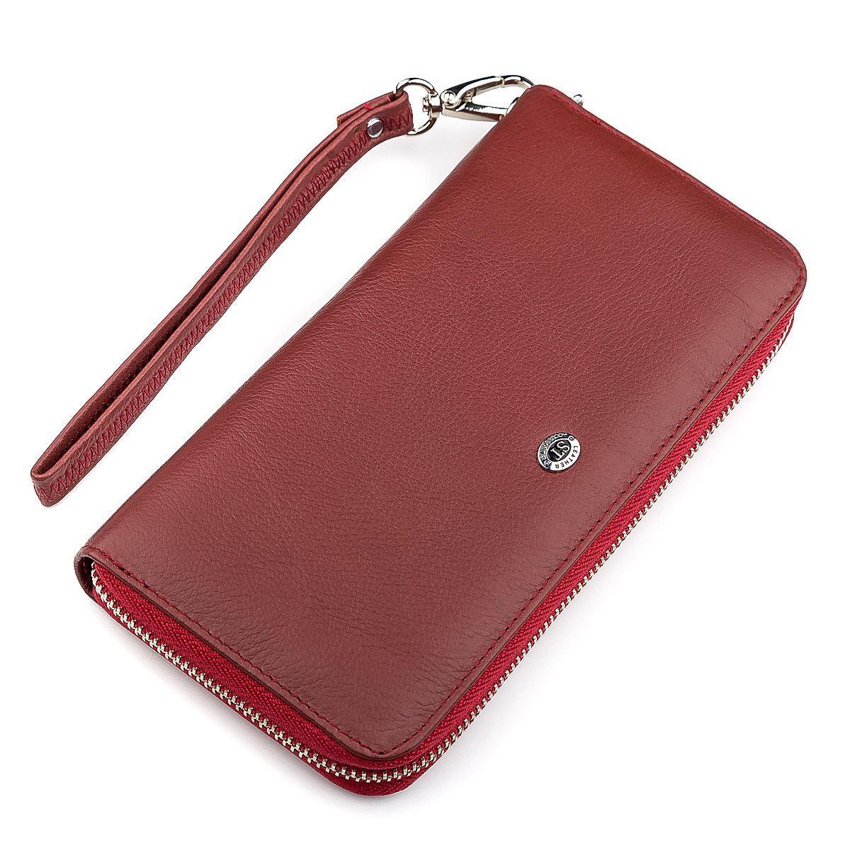 Кошелек Женский St Leather 18419 (St45-2) Очень Надежный Бордовый, Бордовый