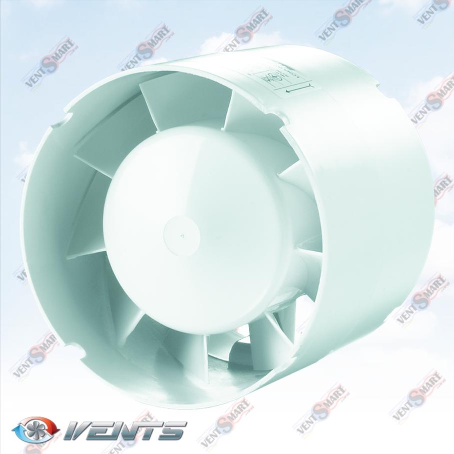 ВЕНТС 100 125 150 ВКО1 ― внешний вид (вото) осевого канального вентилятора для приточно-вытяжной вентиляции в ванной, санузлк, душевой, на кухне