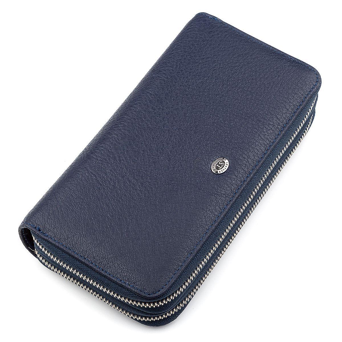 Мужской Кошелек St Leather 18452 (St127) Надежный Синий, Синий