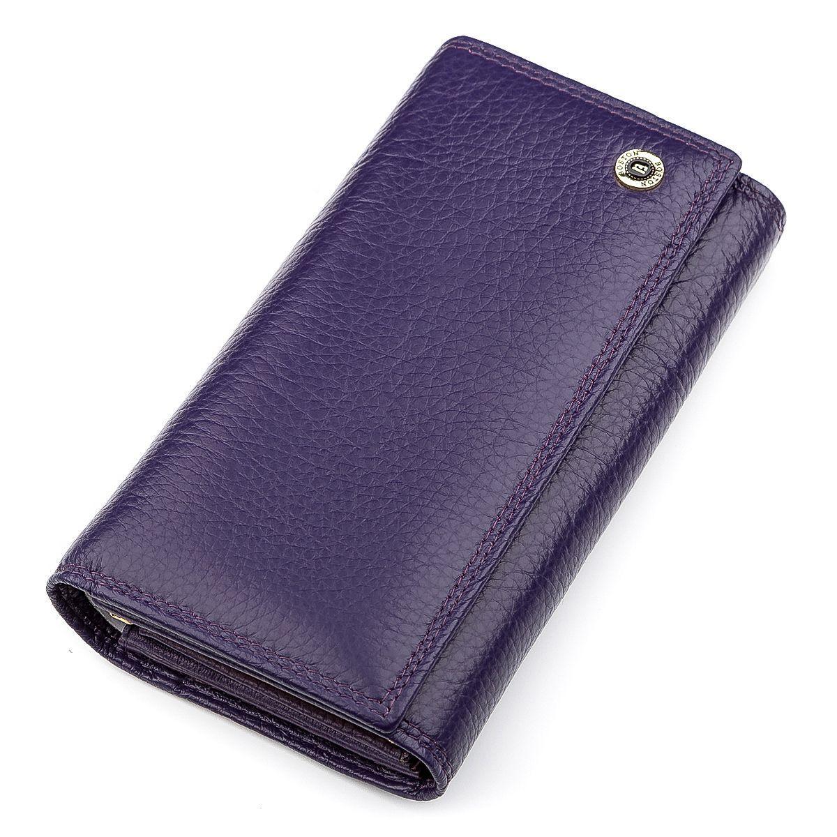 Кошелек Женский Boston 18488 (S9001B) Очень Много Отделений Фиолетовый, Фиолетовый