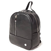 Женский городской рюкзак Karya 0799-45 из натуральной кожи черный